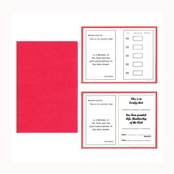 Linen Membership Cards - Various