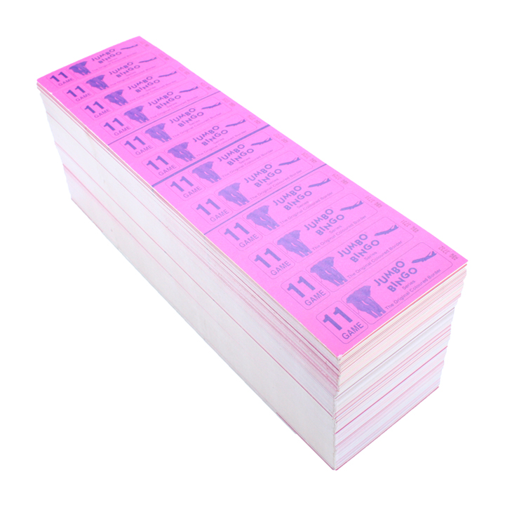 Jumbo Bingo Ticket Booklets, 12 to View, 11 Game