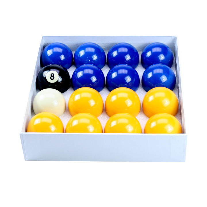 "Blue & Yellow Standard 2"" Ball Set With 1 7/8"" Cue Ball"