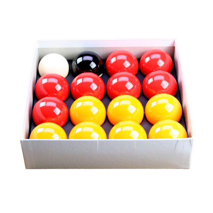 "Red & Yellow Standard 2"" Ball Set With 1 7/8"" Cue Ball"